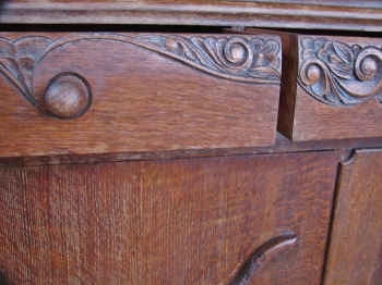 Rhiannons sideboard drawer detail