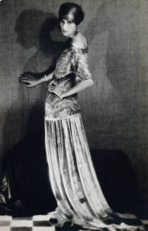 Peggy Guggenheim in a dress by Paul Poiret