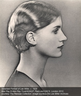 solarisation photo of Lee Miller