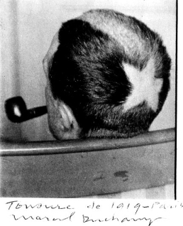 Tonsure (Marcel Duchamp), 1919 - photo by Man Ray