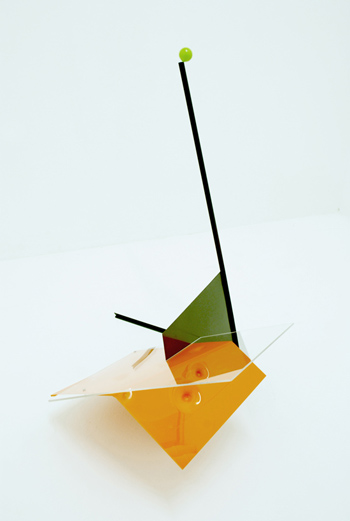 Swiss Break, 2011_ Painted Steel, Acrylic, PingPong Ball