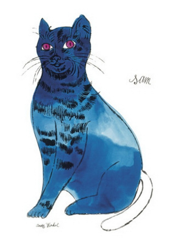 w107925-cats-named-sam-and-one-blue-pussy-by-andy-warhol-c-1954-blue-sam-posters