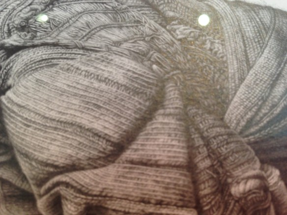close up of lee's ridiculously detailed pencil drawing